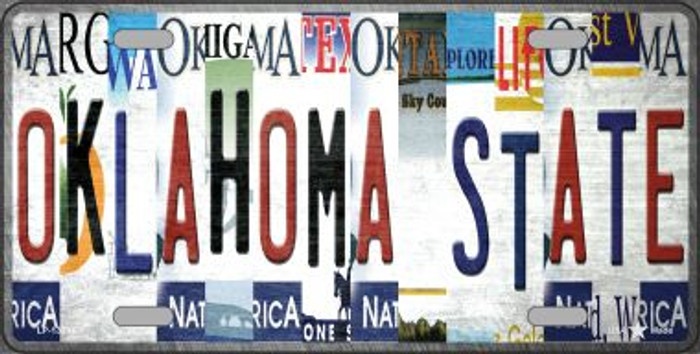 Oklahoma State Strip Art Novelty Metal License Plate Tag LP-13294