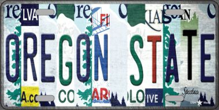 Oregon State Strip Art Novelty Metal License Plate Tag LP-13295