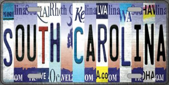 South Carolina Strip Art Novelty Metal License Plate Tag LP-13297