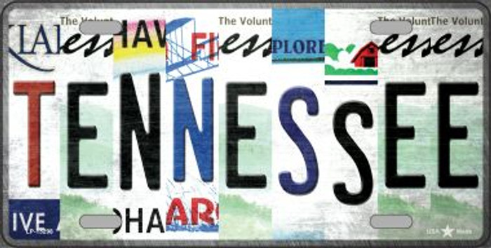 Tennessee Strip Art Novelty Metal License Plate Tag LP-13298