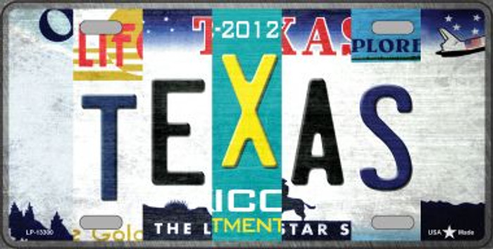Texas Strip Art Novelty Metal License Plate Tag LP-13300