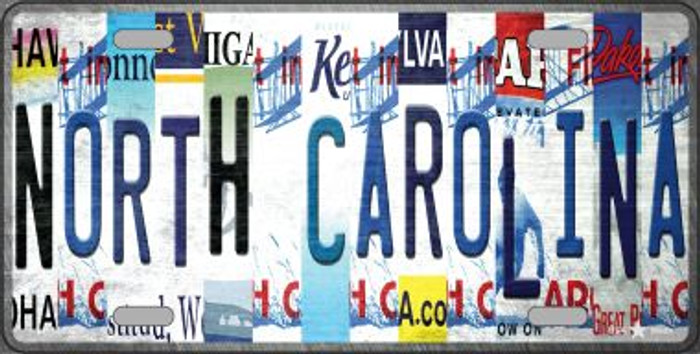 North Carolina Strip Art Novelty Metal License Plate Tag LP-13302