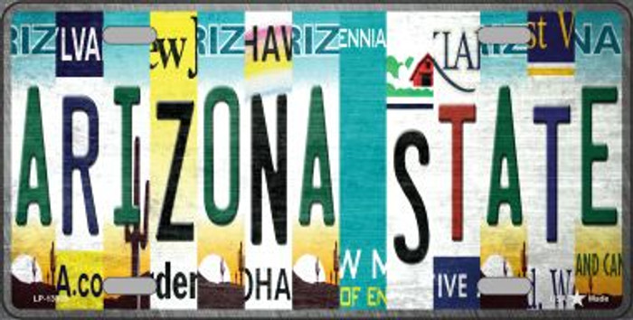 Arizona State Strip Art Novelty Metal License Plate Tag LP-13305
