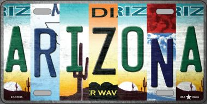 Arizona Strip Art Novelty Metal License Plate Tag LP-13306