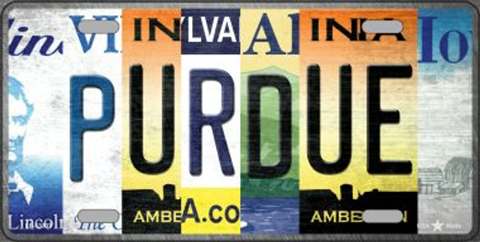 Purdue Strip Art Novelty Metal License Plate Tag LP-13307