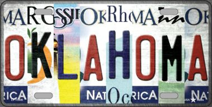 Oklahoma Strip Art Novelty Metal License Plate Tag LP-13309