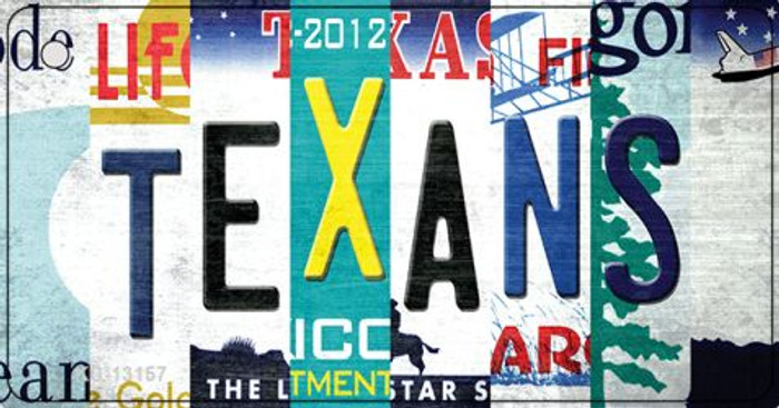 Texans Strip Art Novelty Metal Key Chain KC-13157