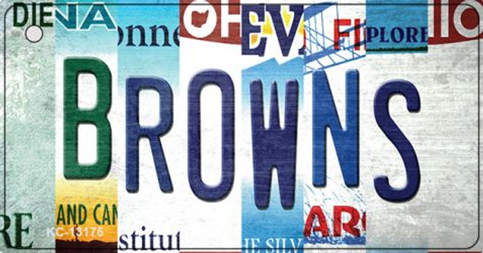 Browns Strip Art Novelty Metal Key Chain KC-13175