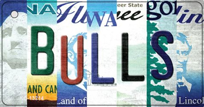 Bulls Strip Art Novelty Metal Key Chain KC-13214