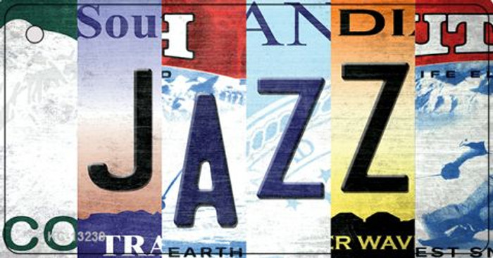 Jazz Strip Art Novelty Metal Key Chain KC-13239