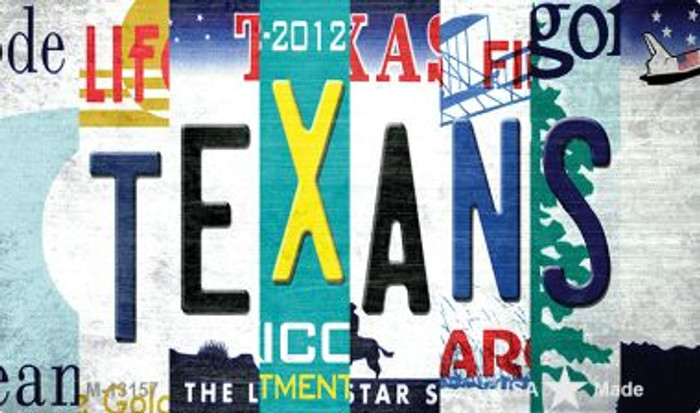 Texans Strip Art Novelty Metal Magnet M-13157