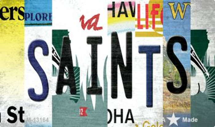 Saints Strip Art Novelty Metal Magnet M-13164