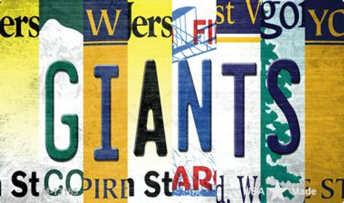 Giants Strip Art Novelty Metal Magnet M-13165