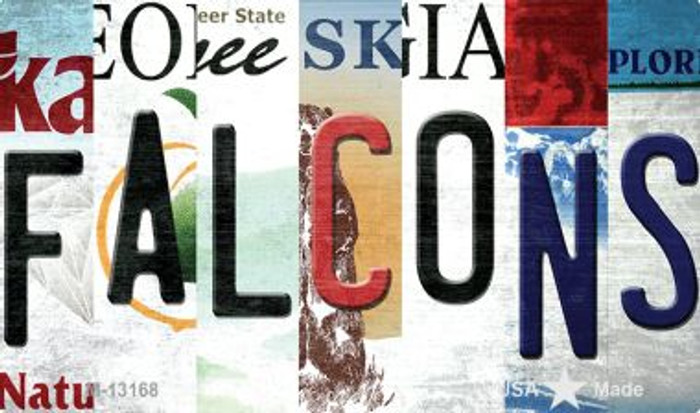 Falcons Strip Art Novelty Metal Magnet M-13168