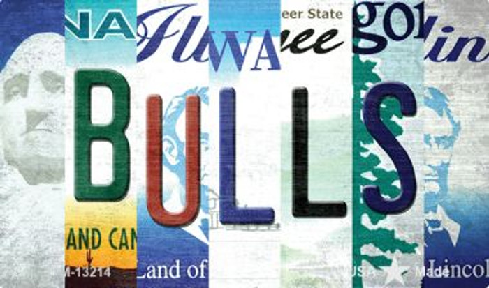 Bulls Strip Art Novelty Metal Magnet M-13214