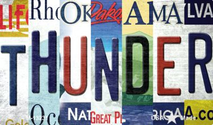 Thunder Strip Art Novelty Metal Magnet M-13231