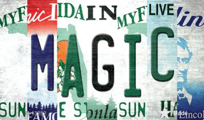 Magic Strip Art Novelty Metal Magnet M-13232