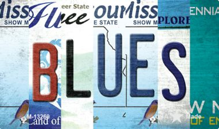 Blues Strip Art Novelty Metal Magnet M-13269