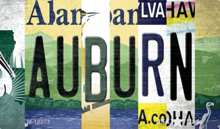 Auburn Strip Art Novelty Metal Magnet M-13273