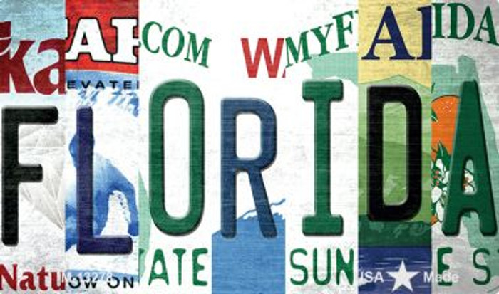Florida Strip Art Novelty Metal Magnet M-13278