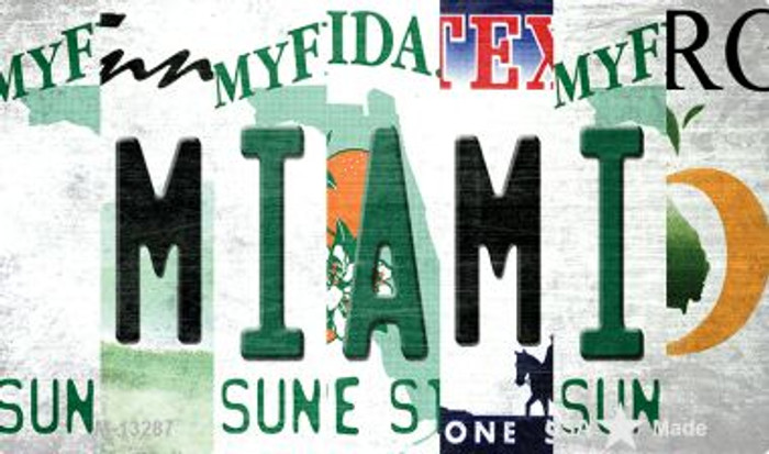 Miami Strip Art Novelty Metal Magnet M-13287