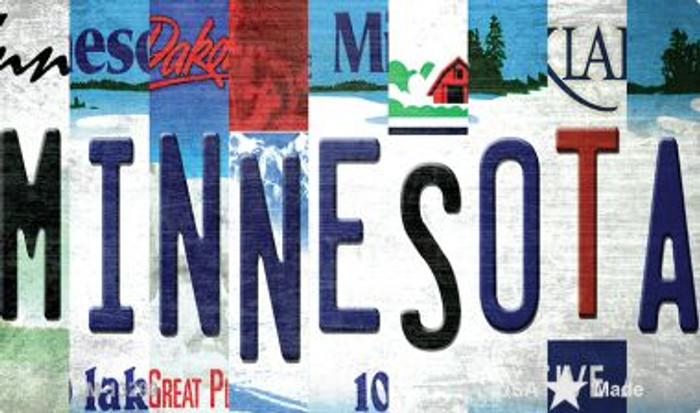 Minnesota Strip Art Novelty Metal Magnet M-13290