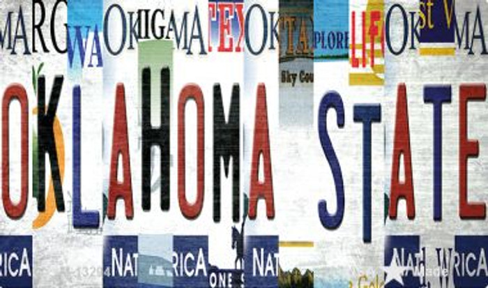 Oklahoma State Strip Art Novelty Metal Magnet M-13294