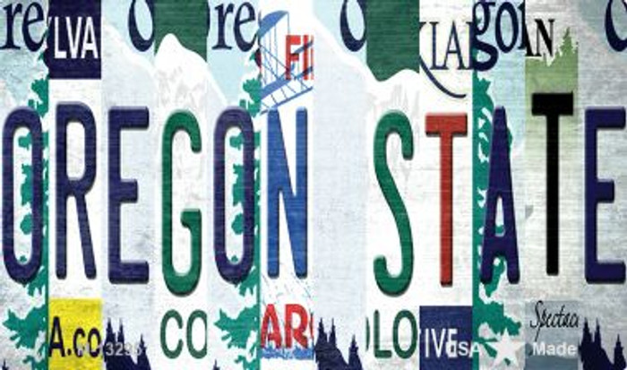 Oregon State Strip Art Novelty Metal Magnet M-13295