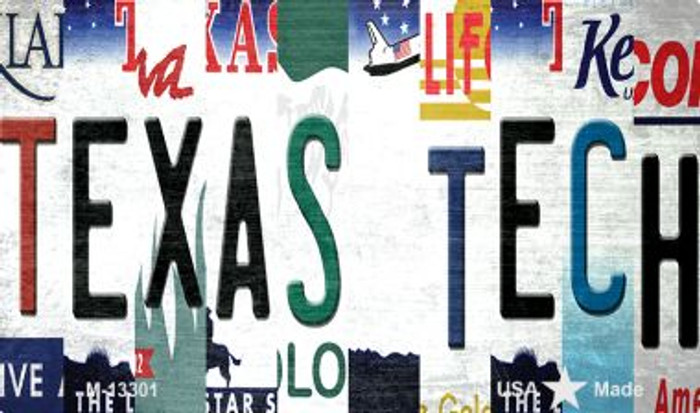 Texas Tech Strip Art Novelty Metal Magnet M-13301