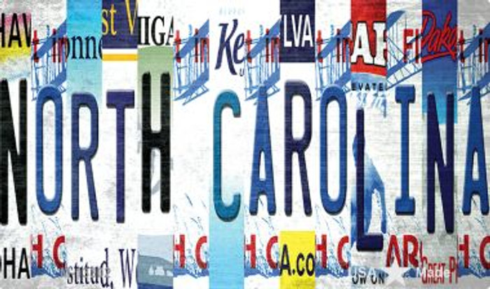 North Carolina Strip Art Novelty Metal Magnet M-13302
