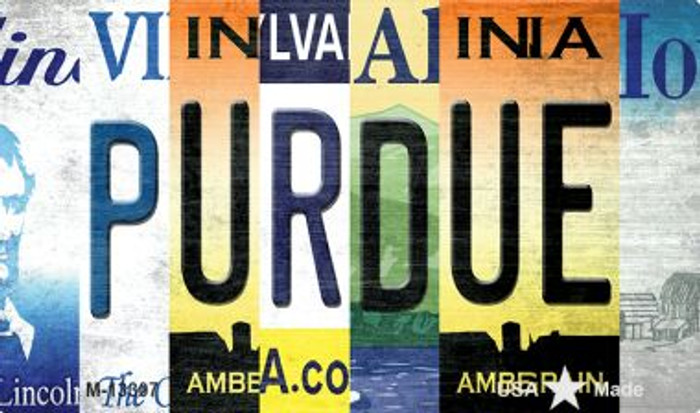 Purdue Strip Art Novelty Metal Magnet M-13307