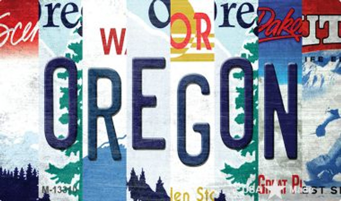 Oregon Strip Art Novelty Metal Magnet M-13310