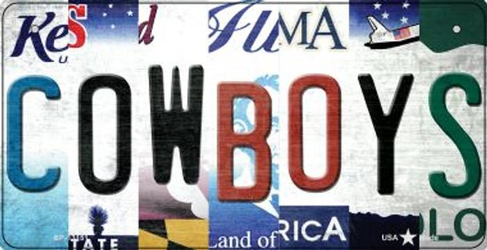Cowboys Strip Art Novelty Metal Bicycle Plate BP-13151