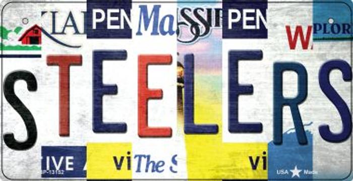 Steelers Strip Art Novelty Metal Bicycle Plate BP-13152