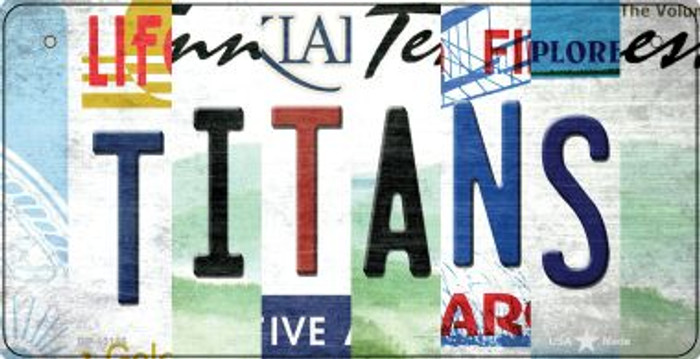 Titans Strip Art Novelty Metal Bicycle Plate BP-13156