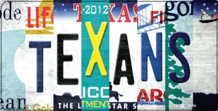 Texans Strip Art Novelty Metal Bicycle Plate BP-13157