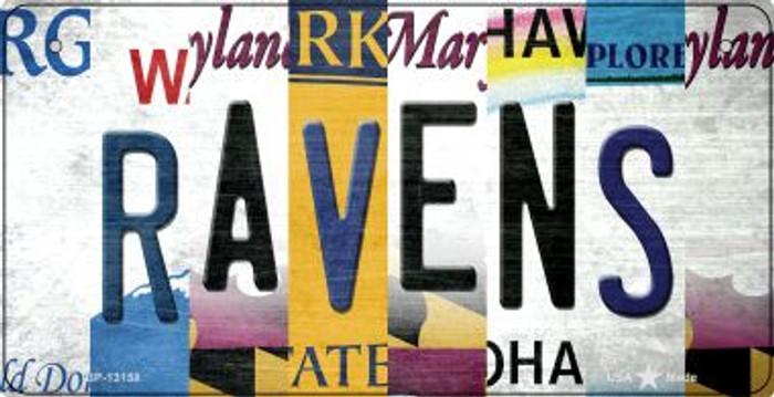 Ravens Strip Art Novelty Metal Bicycle Plate BP-13158
