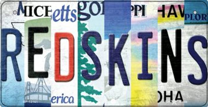 Redskins Strip Art Novelty Metal Bicycle Plate BP-13161