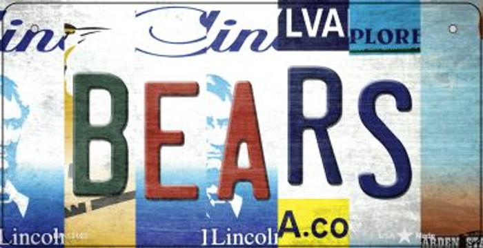 Bears Strip Art Novelty Metal Bicycle Plate BP-13163