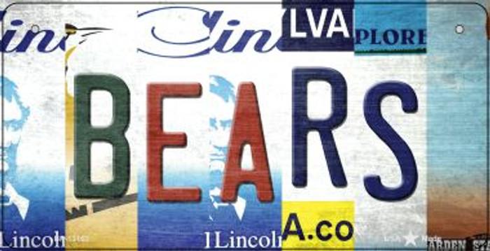 Bears Strip Art Novelty Metal Bicycle Plate BP-13163