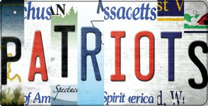 Patriots Strip Art Novelty Metal Bicycle Plate BP-13166