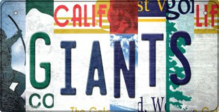 Giants Strip Art Novelty Metal Bicycle Plate BP-13204