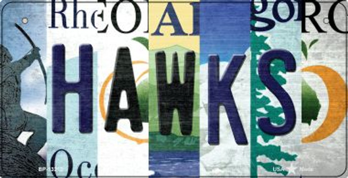 Hawks Strip Art Novelty Metal Bicycle Plate BP-13212