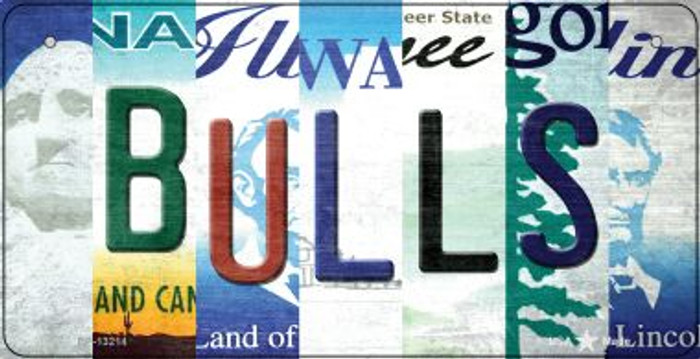 Bulls Strip Art Novelty Metal Bicycle Plate BP-13214
