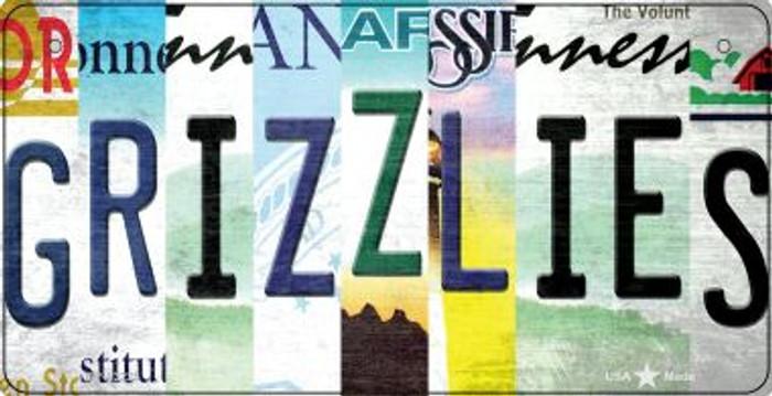 Grizzlies Strip Art Novelty Metal Bicycle Plate BP-13225