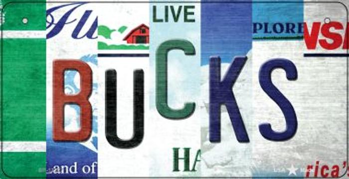 Bucks Strip Art Novelty Metal Bicycle Plate BP-13227