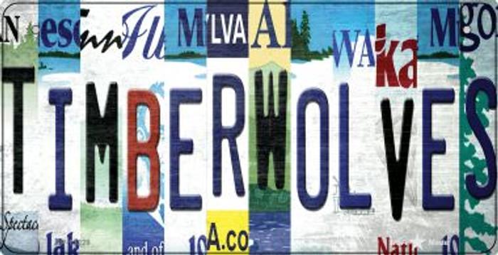 Timberwolves Strip Art Novelty Metal Bicycle Plate BP-13228
