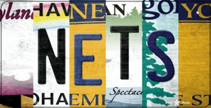 Nets Strip Art Novelty Metal Bicycle Plate BP-13229