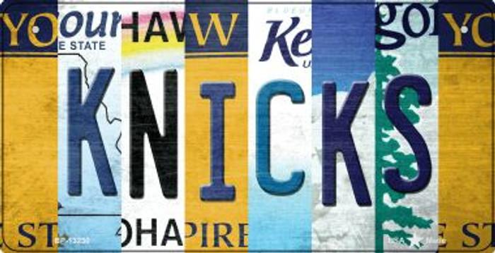 Knicks Strip Art Novelty Metal Bicycle Plate BP-13230
