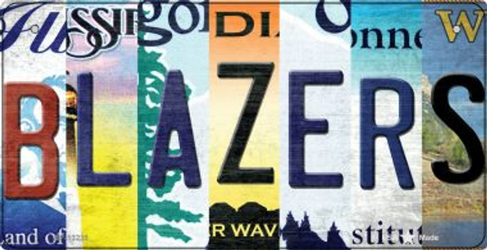 Blazers Strip Art Novelty Metal Bicycle Plate BP-13235